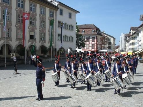 Schützeneinmarsch.