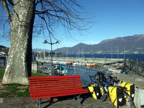 Morgenstimmung in Luino. Plus Wind...