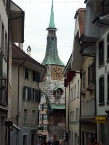 Enge Gassen in der Solothurner Altstadt.