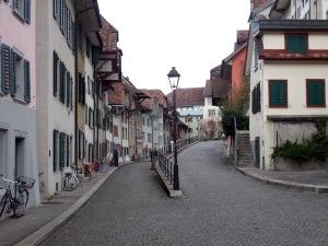 In Aarau in der Altstadt.