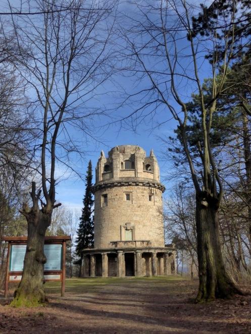 Der (verschlossene) Bismarckturm.