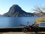 Immer derselbe Berg zu sehen gegenüber von Lugano.