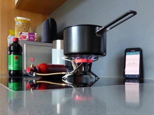 Kocher-Messreihen-Aufbau